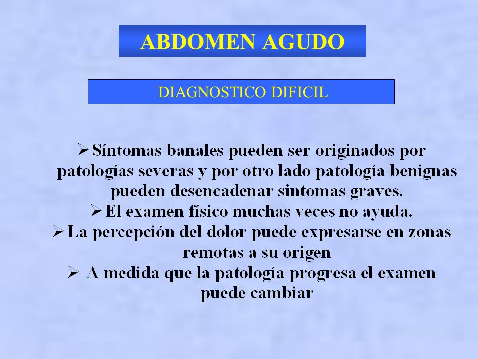 ABDOMEN AGUDO DIAGNOSTICO DIFICIL