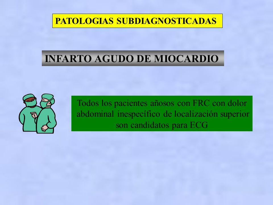 DOLOR ABDOMINAL AGUDO PATOLOGIAS SUBDIAGNOSTICADAS RUPTURA DE ANEURISMA DE AORTA ABDOMINAL APENDICITIS AGUDA EMBARAZO ECTOPICO INFARTO AGUDO DE MIOCAR