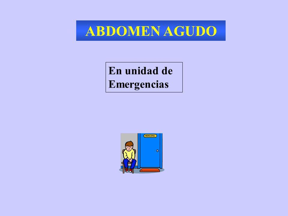 ABDOMEN AGUDO NO TRAUMATICO En unidad de Emergencias ANCIANO EMBARAZADA