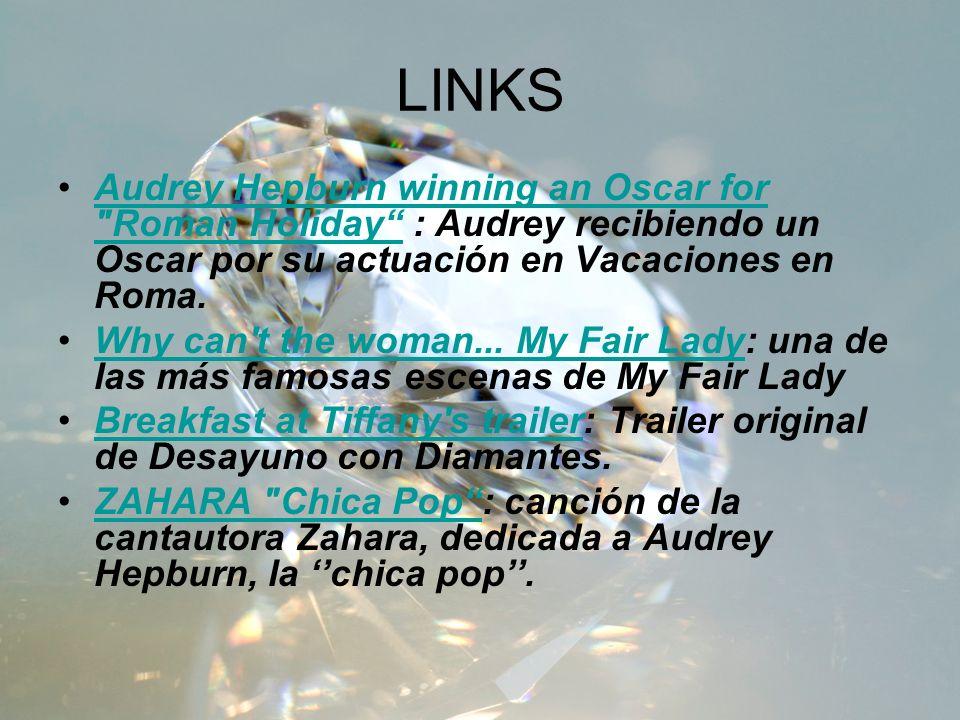 LINKS Audrey Hepburn winning an Oscar for