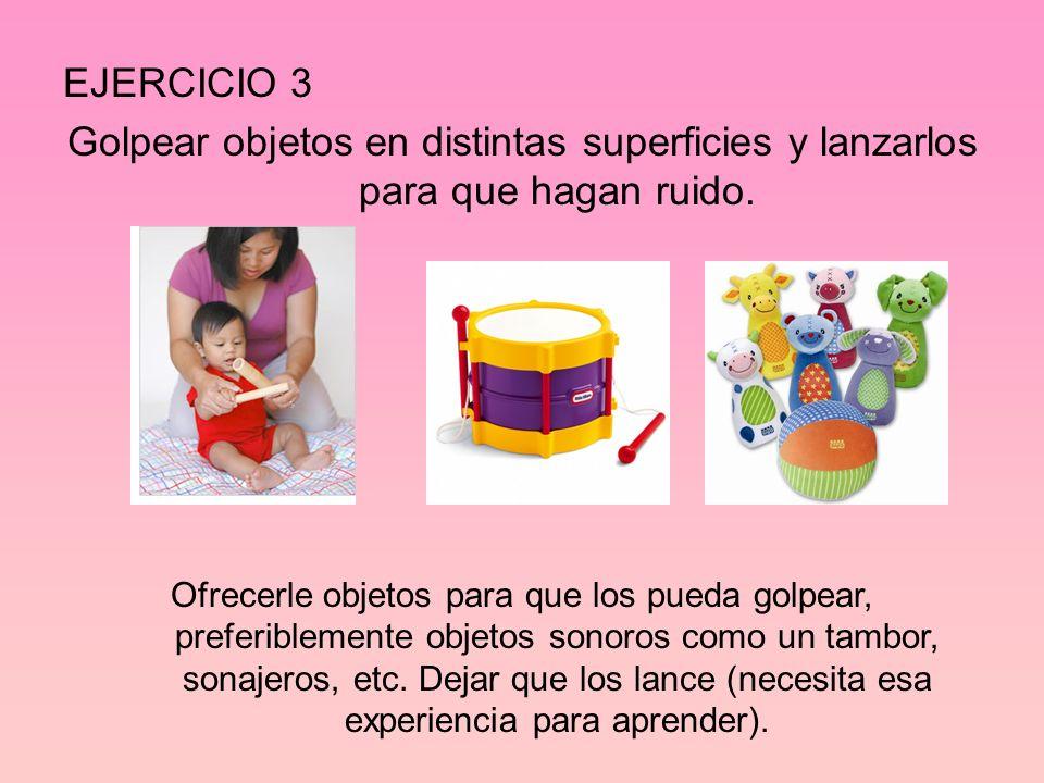 EJERCICIO 4 Buscar activamente objetos que se han desplazado ante su vista.