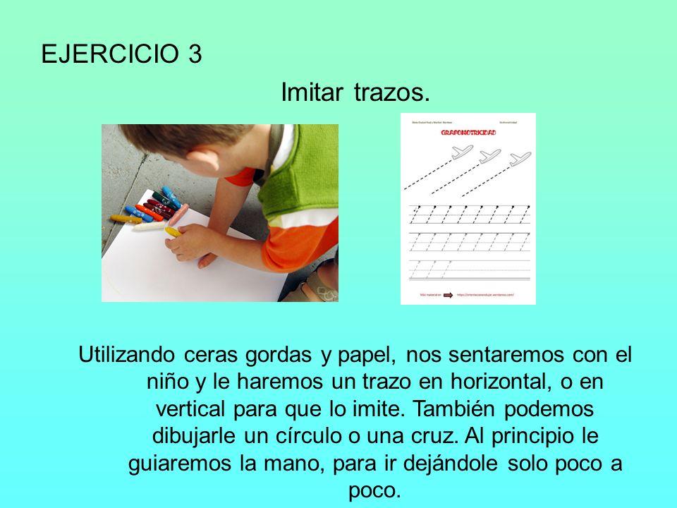 EJERCICIO 4 Hacer puzzles de 2 o 3 piezas.
