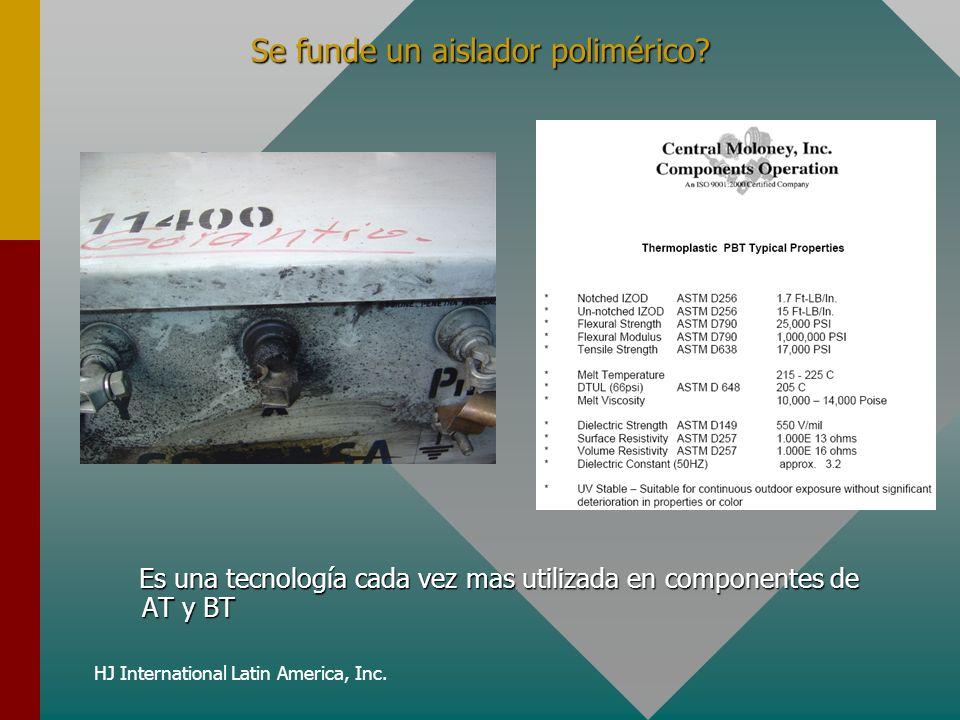 HJ International Latin America, Inc. Se funde un aislador polimérico? Es una tecnología cada vez mas utilizada en componentes de AT y BT