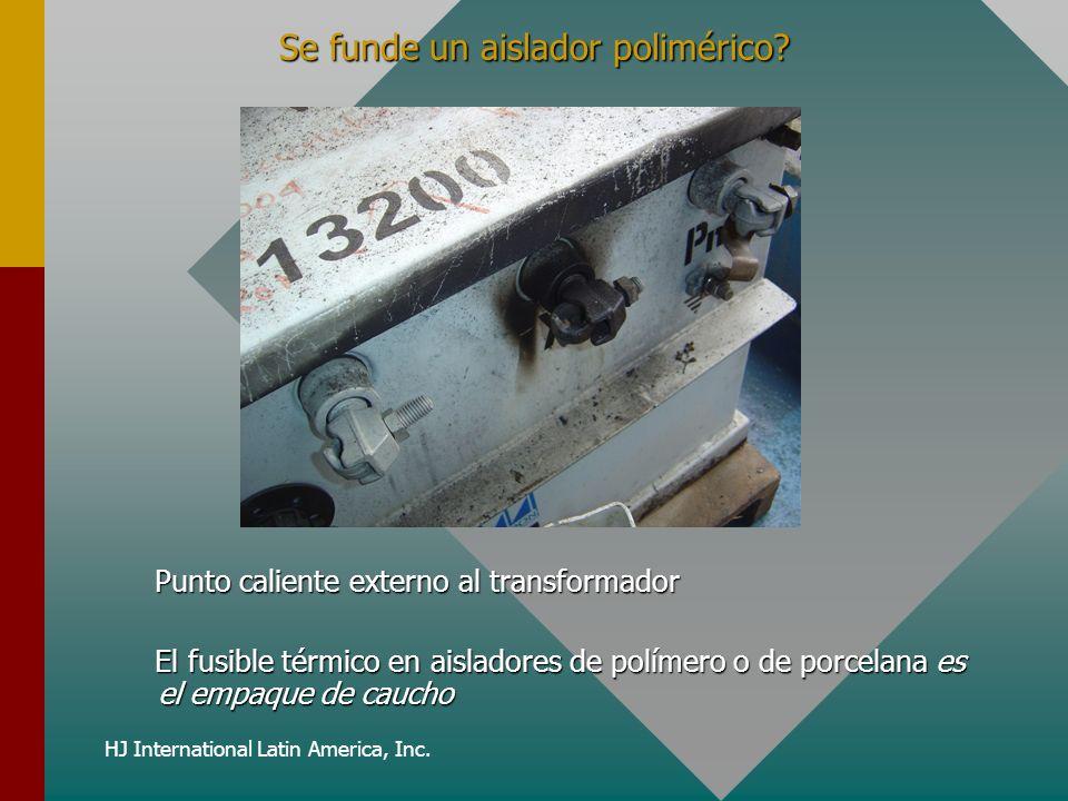 HJ International Latin America, Inc. Se funde un aislador polimérico? Punto caliente externo al transformador El fusible térmico en aisladores de polí