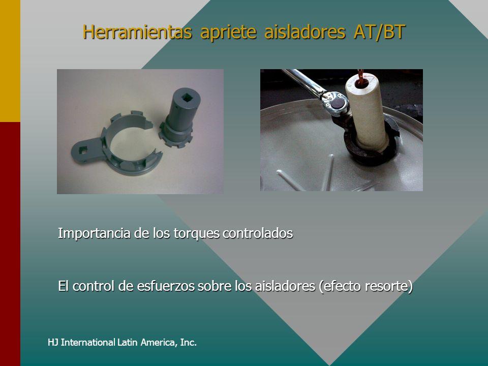 HJ International Latin America, Inc. Herramientas apriete aisladores AT/BT Importancia de los torques controlados El control de esfuerzos sobre los ai
