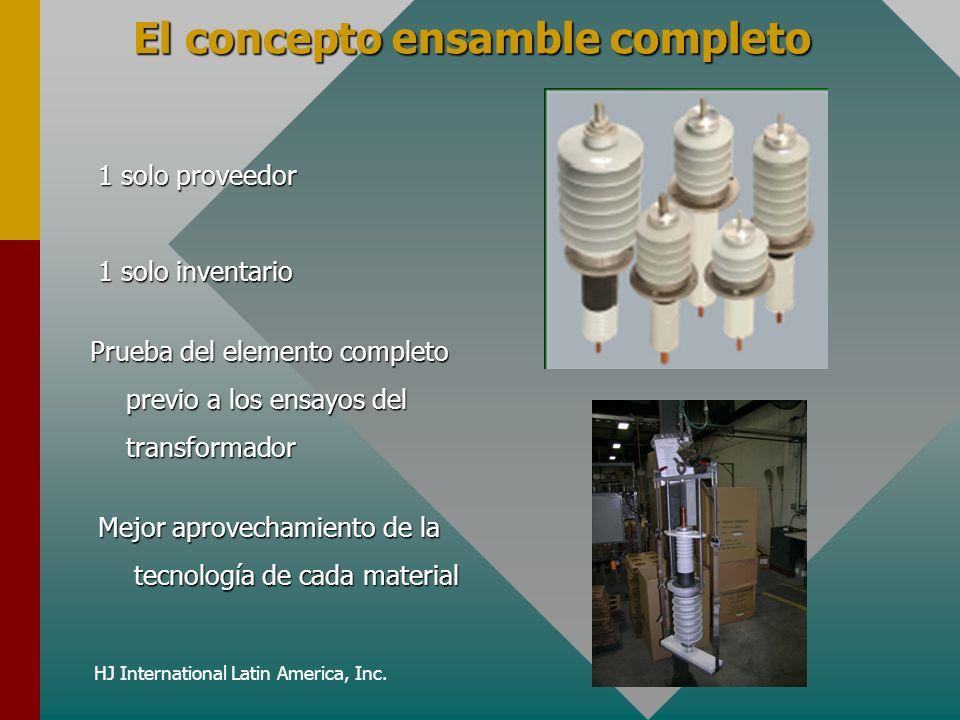 HJ International Latin America, Inc. El concepto ensamble completo 1 solo proveedor Prueba del elemento completo previo a los ensayos del transformado