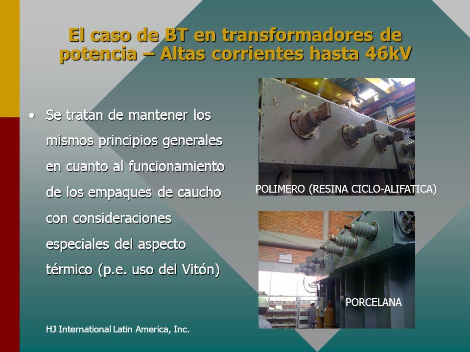 HJ International Latin America, Inc. El caso de BT en transformadores de potencia – Altas corrientes hasta 46kV Se tratan de mantener los mismos princ