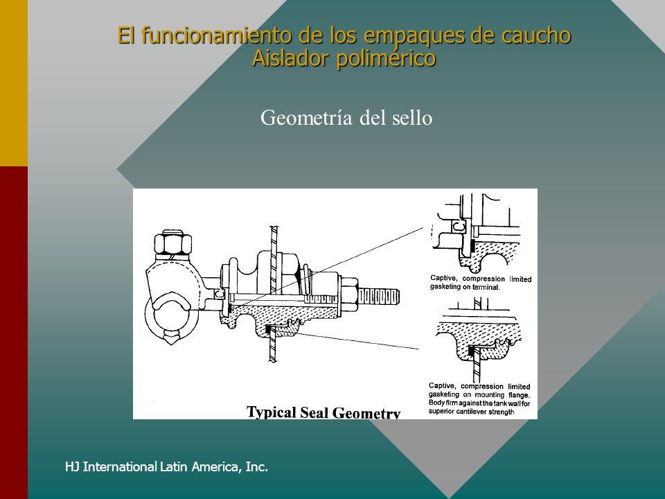 HJ International Latin America, Inc. El funcionamiento de los empaques de caucho Aislador polimérico Geometría del sello