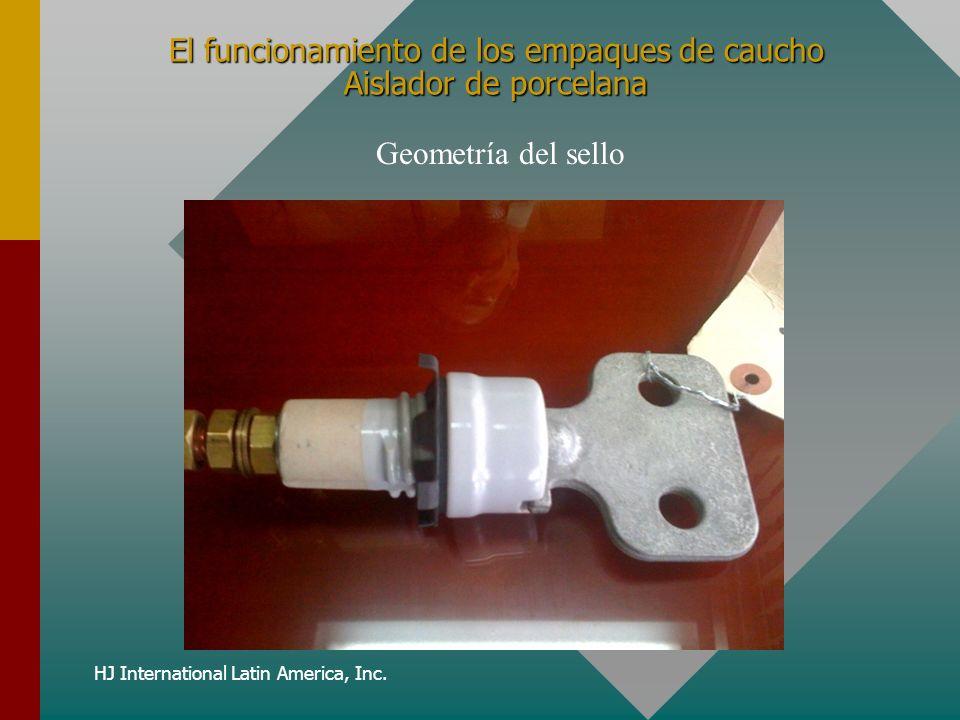 HJ International Latin America, Inc. El funcionamiento de los empaques de caucho Aislador de porcelana Geometría del sello
