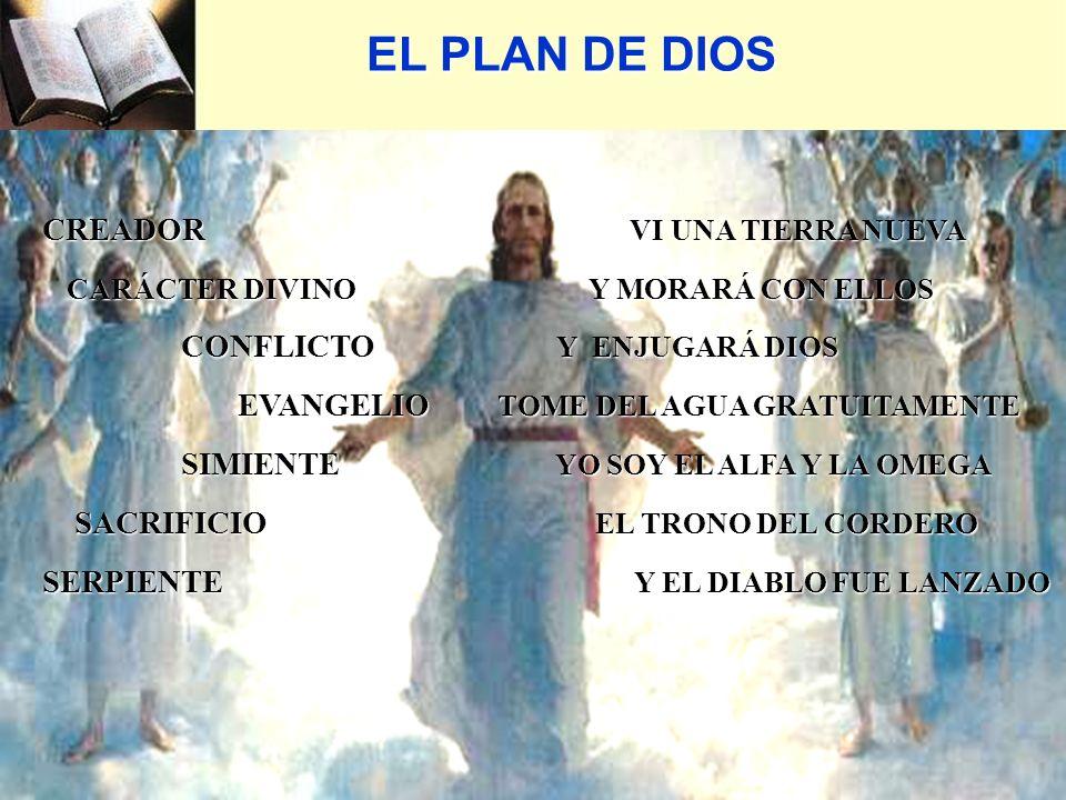 CREADOR VI UNA TIERRA NUEVA CREADOR VI UNA TIERRA NUEVA CARÁCTER DIVINO Y MORARÁ CON ELLOS CARÁCTER DIVINO Y MORARÁ CON ELLOS CONFLICTO Y ENJUGARÁ DIOS CONFLICTO Y ENJUGARÁ DIOS EVANGELIO TOME DEL AGUA GRATUITAMENTE EVANGELIO TOME DEL AGUA GRATUITAMENTE SIMIENTE YO SOY EL ALFA Y LA OMEGA SIMIENTE YO SOY EL ALFA Y LA OMEGA SACRIFICIO EL TRONO DEL CORDERO SACRIFICIO EL TRONO DEL CORDERO SERPIENTE Y EL DIABLO FUE LANZADO SERPIENTE Y EL DIABLO FUE LANZADO EL PLAN DE DIOS