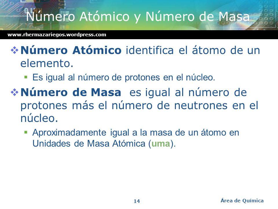 www.rhermazariegos.wordpress.com Electrones de valencia: responsables de las propiedades químicas Electrones internos: poca influencia en reacciones q