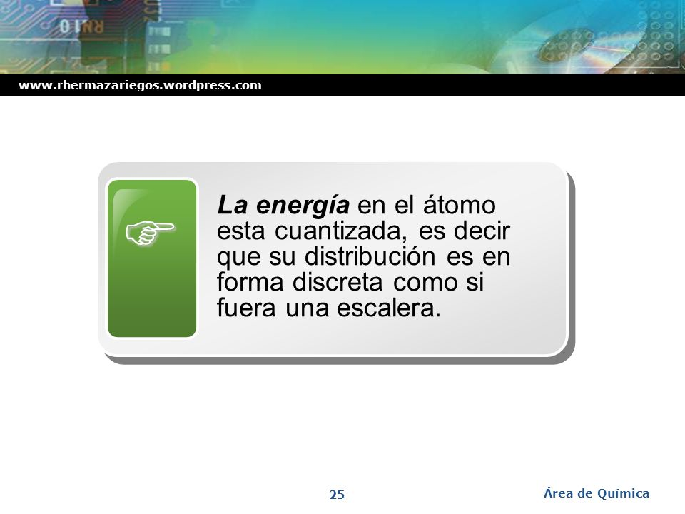 www.rhermazariegos.wordpress.com División de niveles en subniveles Área de Química 24