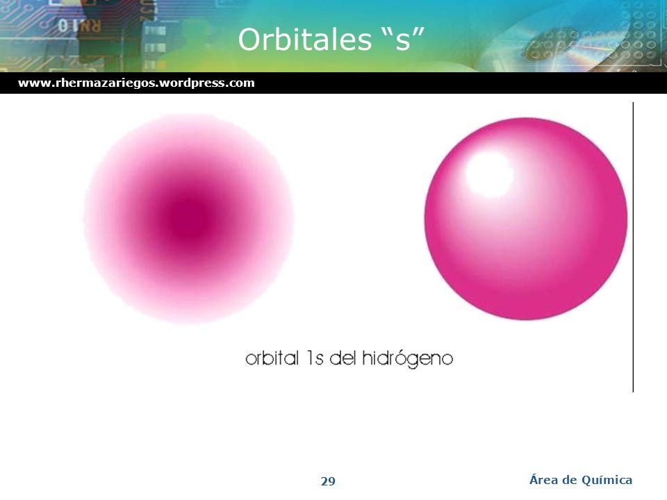 www.rhermazariegos.wordpress.com División de subniveles en orbitales Área de Química 28