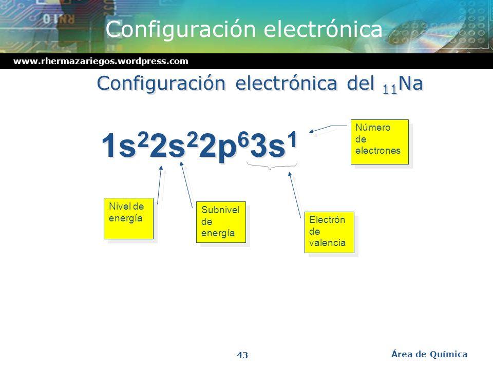 www.rhermazariegos.wordpress.com El spin del electrón alrededor de un eje imaginario genera un campo magnetico imaginario. Área de Química 42