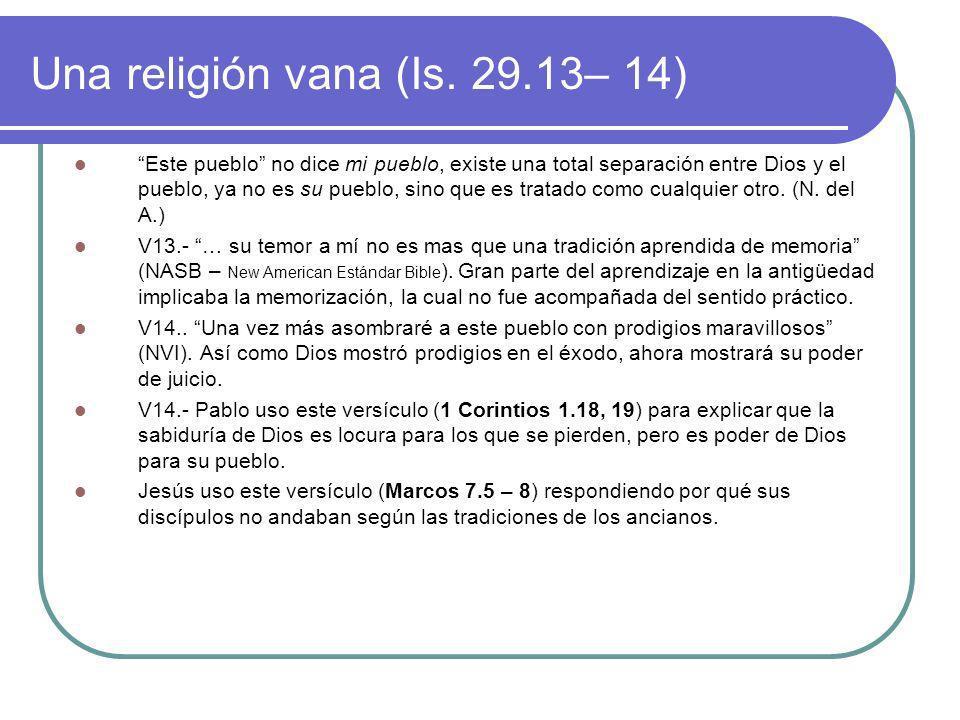 Justicia, Bendiciones y Promesas (Is.