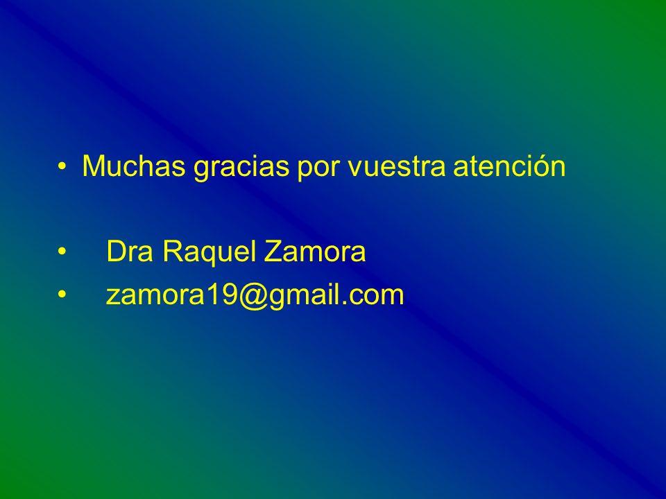 Muchas gracias por vuestra atención Dra Raquel Zamora zamora19@gmail.com