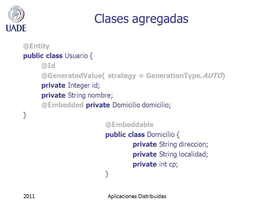 Configuración (pasos) 1.Instanciar una clase AnnotationConfiguration AnnotationConfiguration config = new AnnotationConfiguration(); 2.Agregar las clases persistentes config.addAnnotatedClass(Usuario.class); 3.Obtener un objeto SessionFactory.