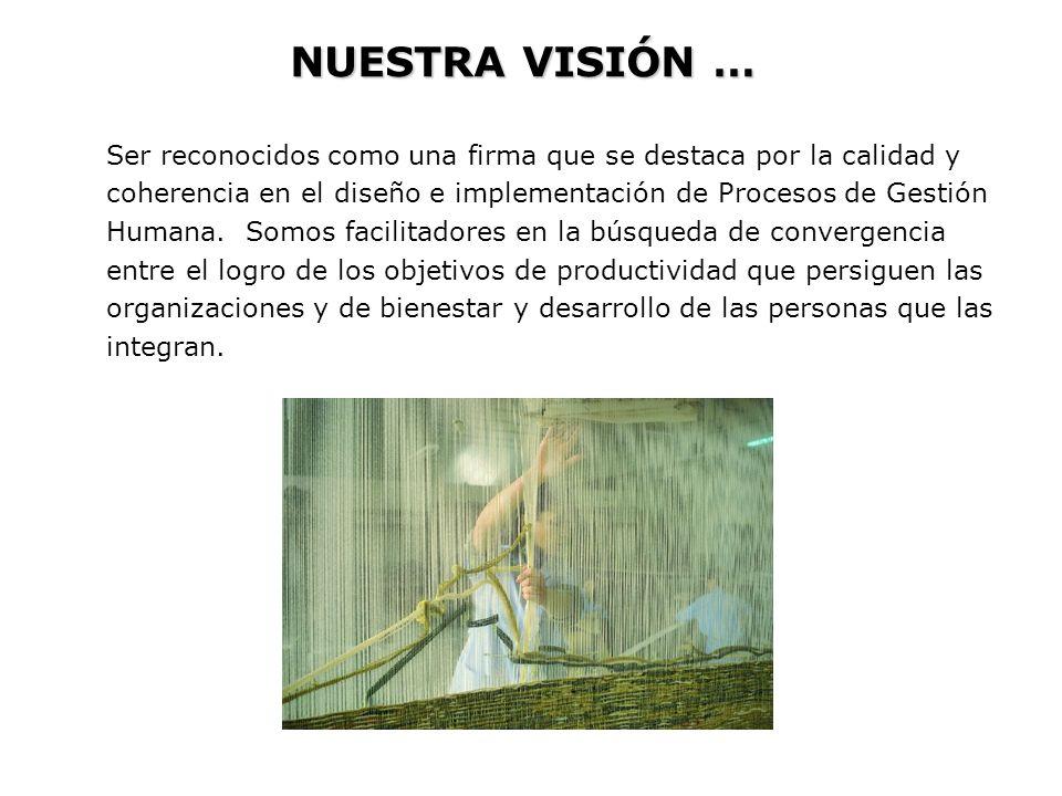 NUESTRA MISIÓN … Las labor es que realizamos se caracterizan por …..