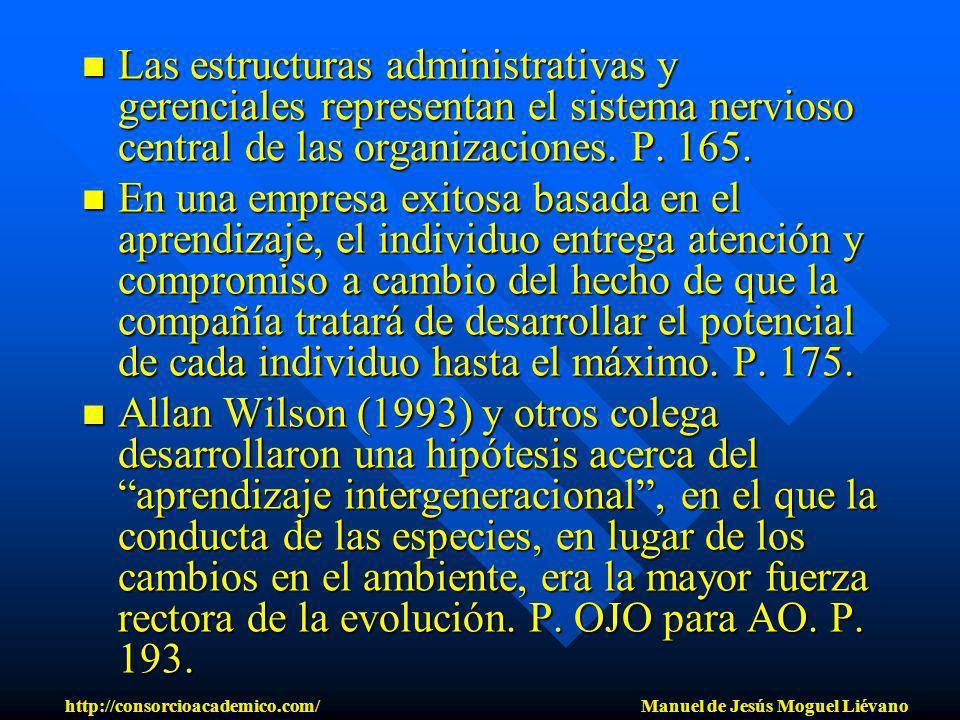 Las estructuras administrativas y gerenciales representan el sistema nervioso central de las organizaciones. P. 165. Las estructuras administrativas y