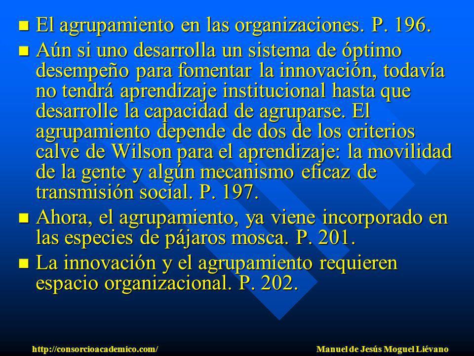 El agrupamiento en las organizaciones. P. 196. El agrupamiento en las organizaciones. P. 196. Aún si uno desarrolla un sistema de óptimo desempeño par