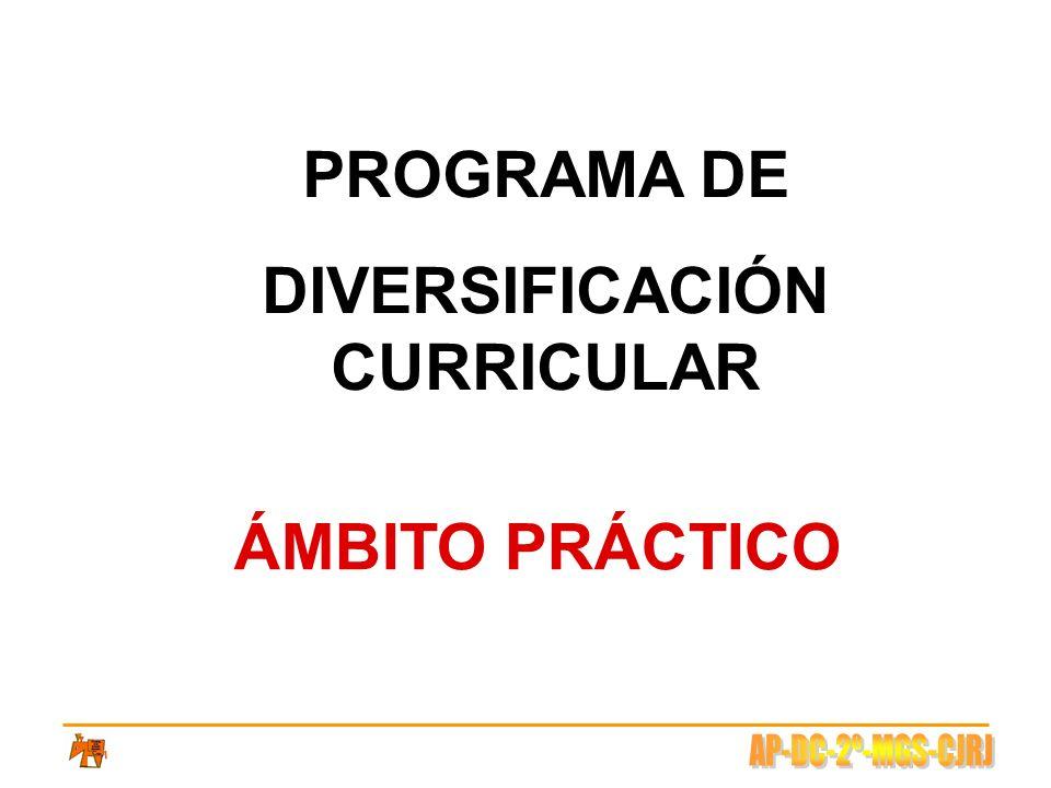 PROGRAMA DE DIVERSIFICACIÓN CURRICULAR ÁMBITO PRÁCTICO