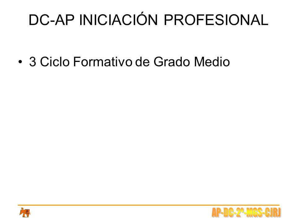 DC-AP INICIACIÓN PROFESIONAL 3 Ciclo Formativo de Grado Medio
