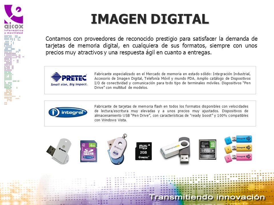 IMAGEN DIGITAL Contamos con proveedores de reconocido prestigio para satisfacer la demanda de tarjetas de memoria digital, en cualquiera de sus format