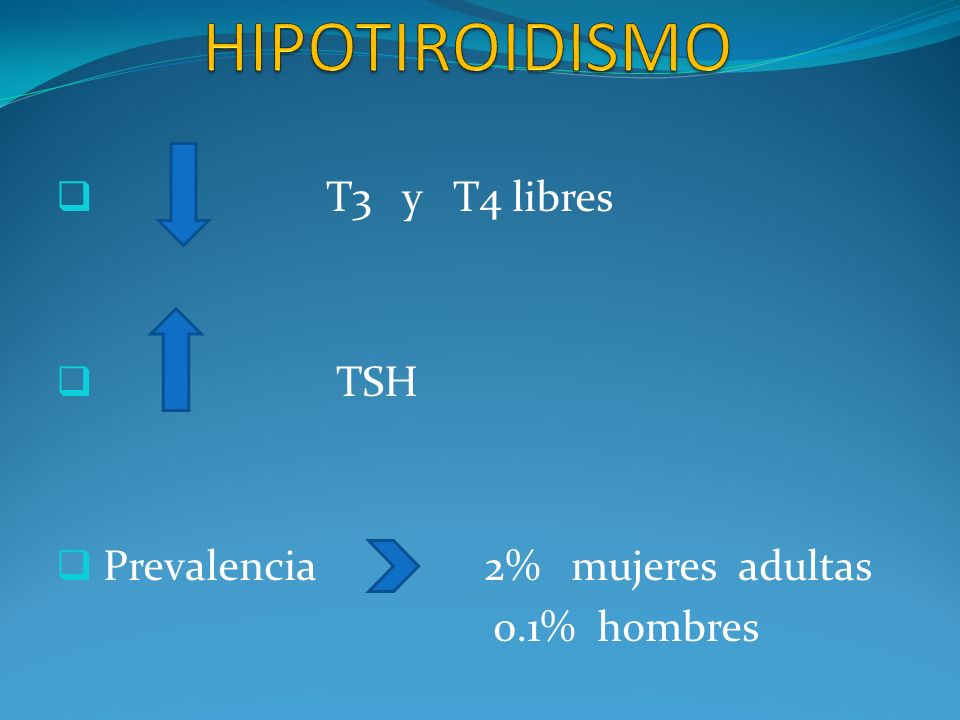 PRIMARIO : frecuente (95%) Afectación de la glándula tiroidea CENTRAL : 5% -Secundario (alteración hipófisis) -Terciario (alteración hipotálamo)