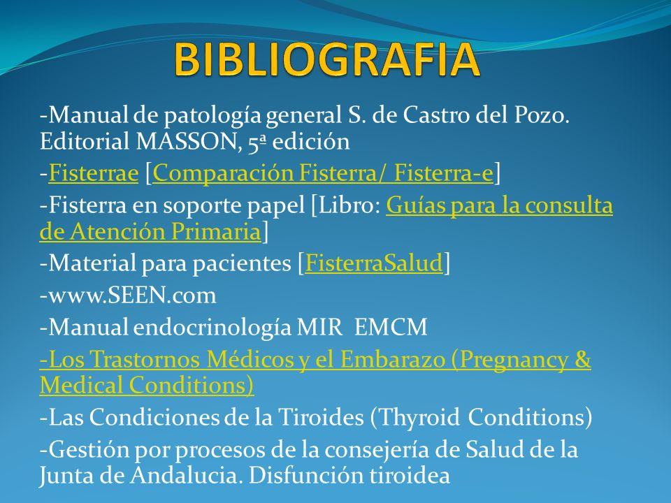 -Manual de patología general S. de Castro del Pozo. Editorial MASSON, 5ª edición -Fisterrae [Comparación Fisterra/ Fisterra-e]FisterraeComparación Fis