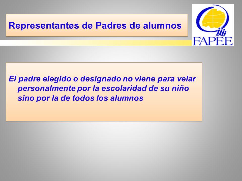 Vuestras competencias… El representante de los padres de alumnos debe: a-Hacerse disponible b-Ser atento a la expresión de las peticiones de los padres.