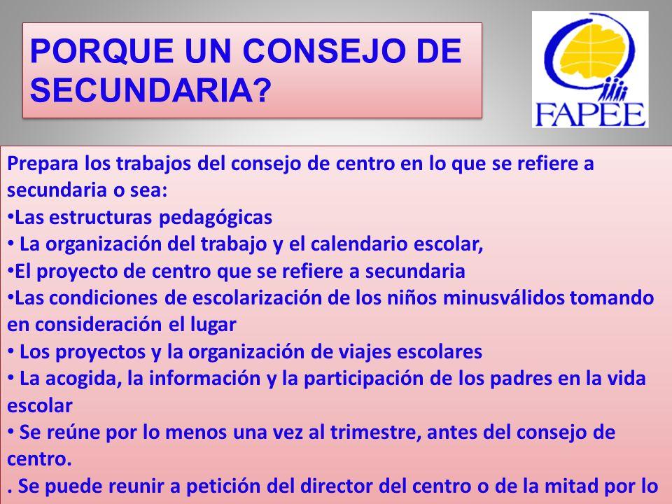 El consejo de disciplina Composición: Dos o tres representantes de los padres de alumnos, elegidos entre los miembros titulares y suplentes del consejo de centro.