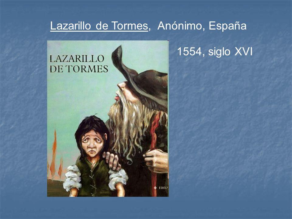 Lazarillo de Tormes, Anónimo, España 1554, siglo XVI