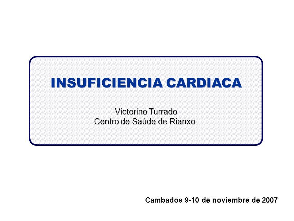 INSUFICIENCIA CARDIACA Victorino Turrado Centro de Saúde de Rianxo. Cambados 9-10 de noviembre de 2007