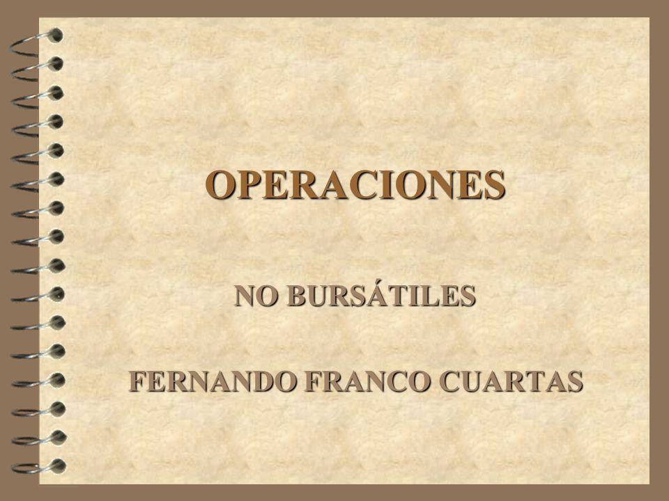 TIPOS DE TRANSACCIONES TRANSACCIONES BURSATILES.