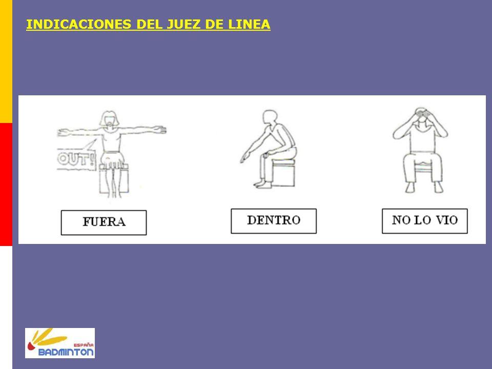 INDICACIONES DEL JUEZ DE LINEA