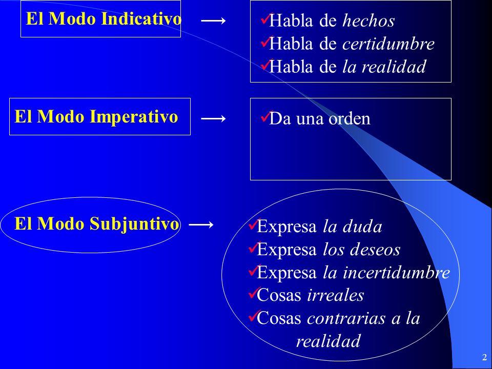 12 El presente Del subjuntivo El presente Del subjuntivo