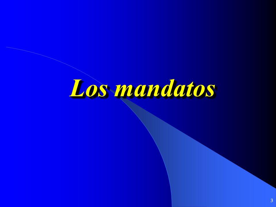 3 Los mandatos