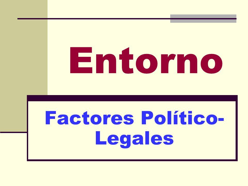 Entorno Factores Político- Legales