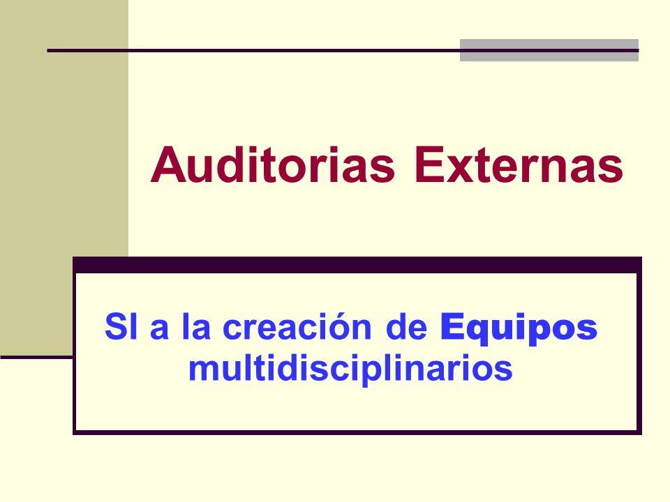 Auditorias Externas SI a la creación de Equipos multidisciplinarios