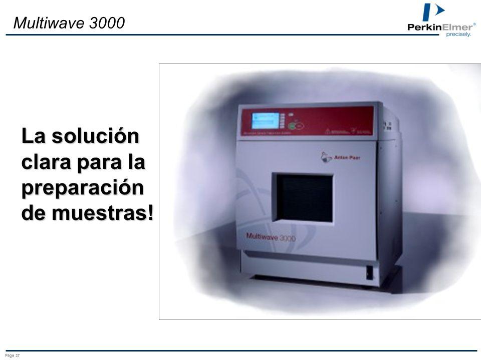 Page 36 Multiwave 3000 Temperatura (°C) Presión (bar) XQ80 80 300 Alimentos (alto contenido de grasa) Plásticos, fibras Aceite, grasa, Carbón, Reactiv