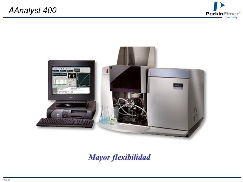 Page 39 AAnalyst 400 Mayor flexibilidad