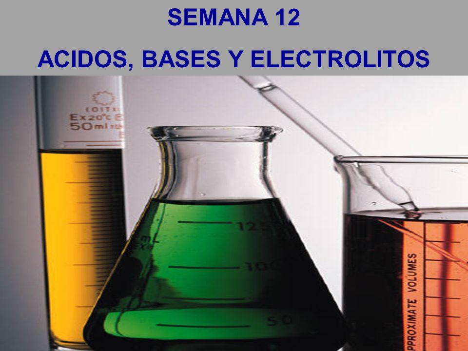 SEMANA 12 ACIDOS, BASES Y ELECTROLITOS