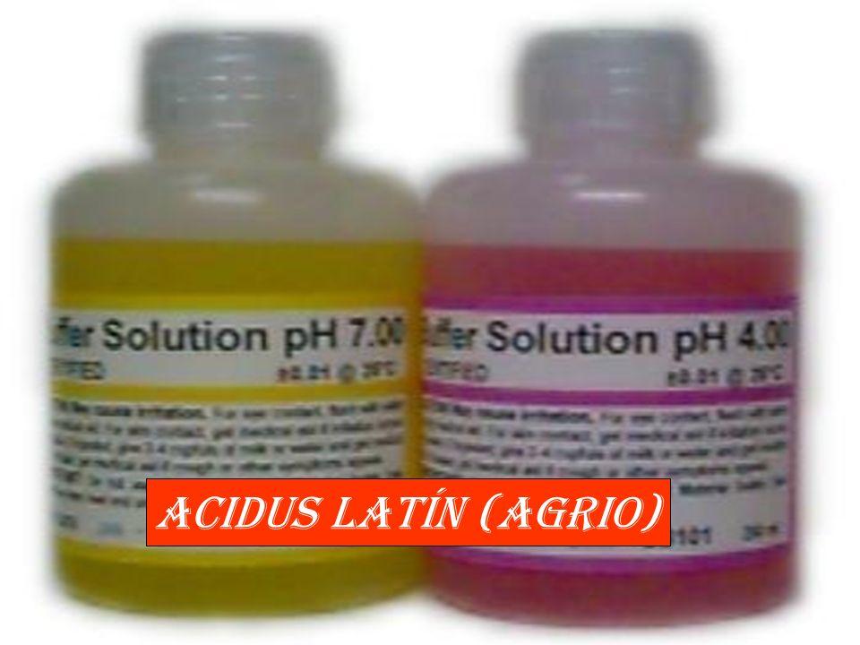 Acidus latín (agrio)