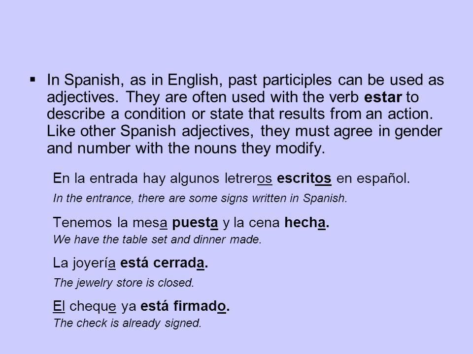 ¡INTÉNTALO.Indica la forma correcta del participio pasado de estos verbos.