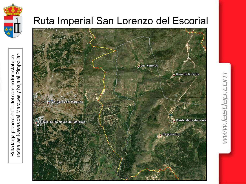 Ruta Imperial San Lorenzo del Escorial Ruta larga plano detalle del camino forestal que rodea las Navas del Marques y baja al Pimpollar
