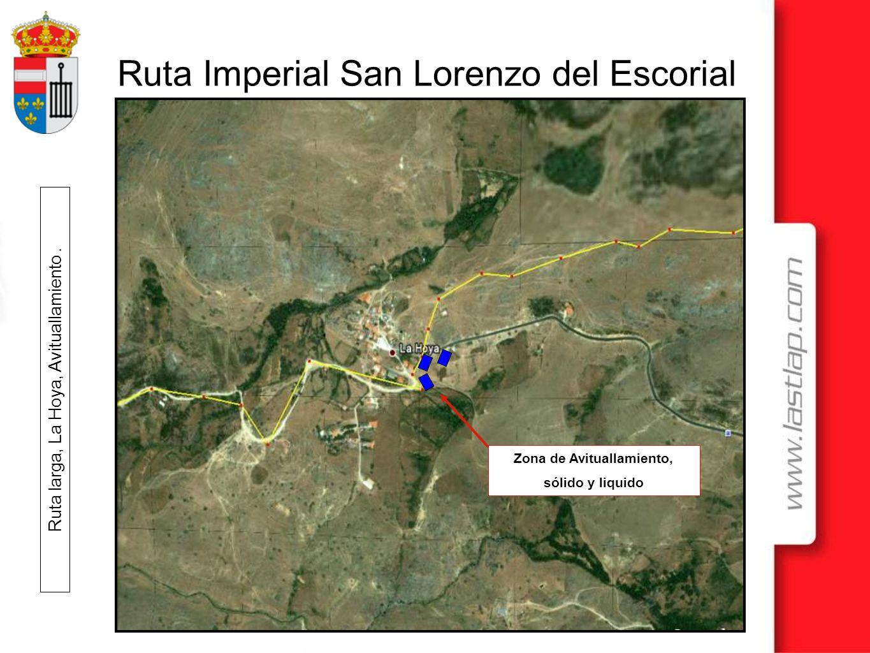 Ruta Imperial San Lorenzo del Escorial Zona de Avituallamiento, sólido y liquido Ruta larga, La Hoya, Avituallamiento.