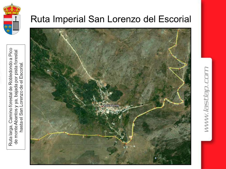 Ruta Imperial San Lorenzo del Escorial Ruta larga, Camino forestal de Robledondo a Pico de monte Abantos y ya, bajada por pista forestal hasta el San