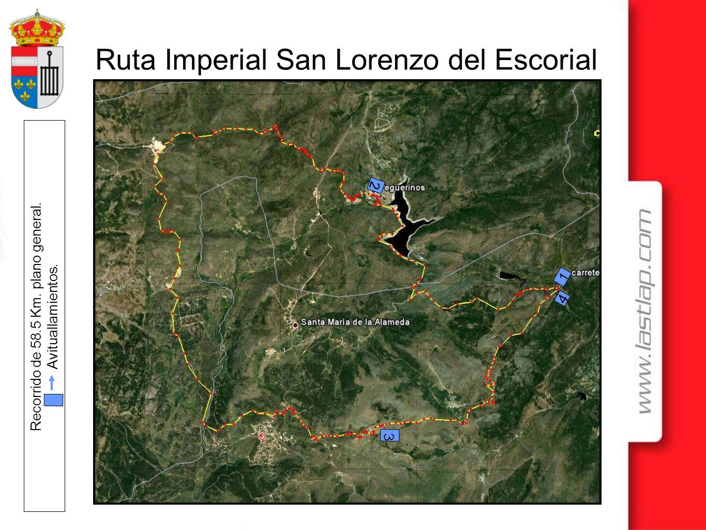 Ruta Imperial San Lorenzo del Escorial Recorrido de 58.5 Km. plano general. Avituallamientos. 1 1 2 3 4