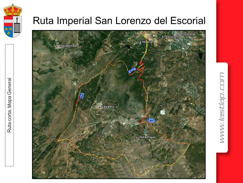 Ruta Imperial San Lorenzo del Escorial Ruta corta, Mapa General 1 2 3