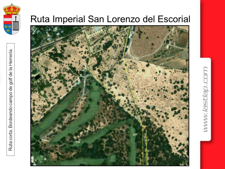 Ruta Imperial San Lorenzo del Escorial Ruta corta, Bordeando campo de golf de la Herrería.
